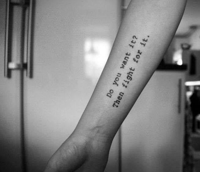 Zie Hier Tattoos Met Een Inspirerende Tekst