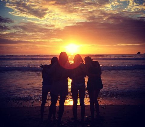 Cloud, Sunset, Sunrise, People on beach, Dusk, People in nature, Evening, Horizon, Sun, Amber,