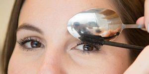 beauty trucjes mascara aanbrengen met lepel
