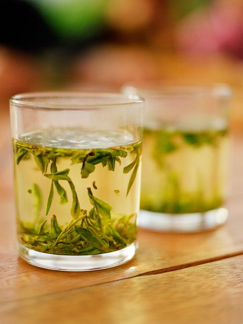 """<p>This antioxidant-rich tea has multiple health benefits, including boosting metabolism, says registered dietitian nutritonist <a href=""""jackienewgent.com"""">Jackie Newgent</a>, author of <em>The With or Without Meat Cookbook</em>. """"It's because green tea contains plant-based compounds called catechins."""" Not only have these compounds <a href=""""http://www.ncbi.nlm.nih.gov/pubmed/21115335"""">been found</a> to reduce body weight and fat, but the caffeine in green tea also acts as a stimulant that can increase the amount of energy your body uses. And then there's the H20. """"<a href=""""http://www.ncbi.nlm.nih.gov/pubmed/20796216"""">Drinking water</a> may promote thermogenesis—the production of heat caused by the metabolizing of food—and play a role in reducing calorie intake,"""" adds Newgent.</p>"""