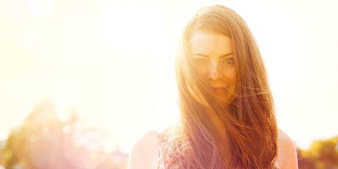 haar glanzend zon