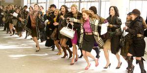 Shopaholic klanten rennen