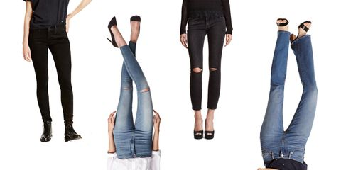 Clothing, Leg, Trousers, Denim, Textile, Joint, Standing, Style, Knee, Fashion,