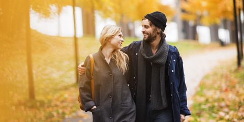 Cap, Jacket, People in nature, Winter, Street fashion, Love, Beanie, Beard, Scarf, Necklace,