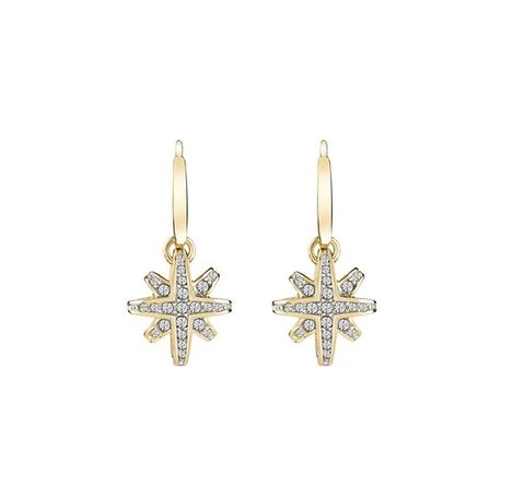 Jewellery, Fashion accessory, Earrings, Metal, Body jewelry, Symbol, Cross, Beige, Brooch, Natural material,
