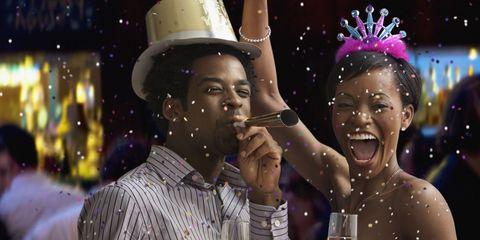 Koppel Oudejaarsavond feestje