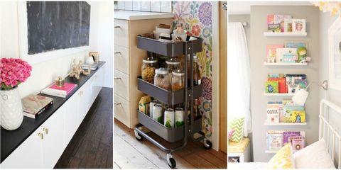 Room, Shelving, Kitchen appliance, Interior design, Shelf, Kitchen, Countertop, Home appliance, Major appliance, Small appliance,