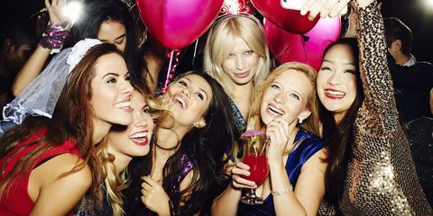Mouth, Smile, Fun, Balloon, Happy, Party, Fashion accessory, Facial expression, Pink, Friendship,