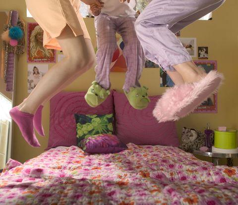 Purple, Textile, Room, Bed, Magenta, Pink, Bedding, Linens, Bed sheet, Bedroom,