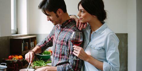 Cookware and bakeware, Plaid, Vegetable, Black hair, Cooking, Mixing bowl, Bowl, Kitchen, Kitchen appliance, Tartan,