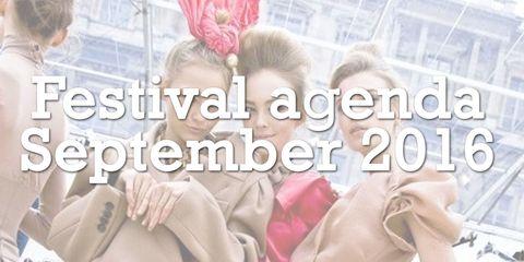 Festival agenda september 2017