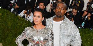 Kim Kardashian in Balmain en Kanye West Met Gala 2016