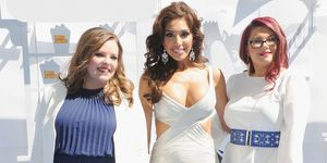 Teen Mom Catelynn Lowell, Farrah Abraham en Amber Portwood bij MTV movie awards
