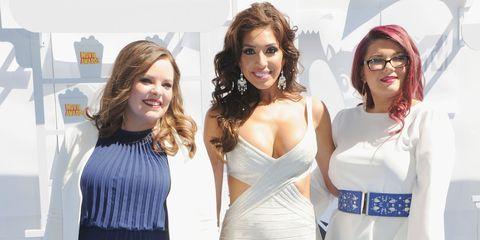 Teen Mom Catelynn Lowell, Farrah Abraham en Amber Portwood bij MTV movie awards