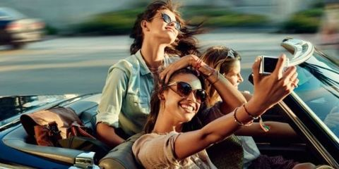 Eyewear, Glasses, Vision care, Fun, Mobile phone, Hand, Tourism, Leisure, Sunglasses, Summer,