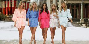 Victoria's Secret Stella Maxwell, Martha Hunt, Alessandra Ambrosio, Elsa Hosk en Romee Strijd
