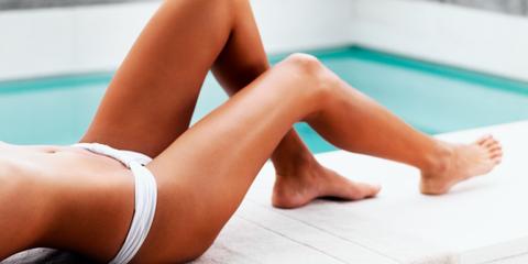 bruine benen bikini