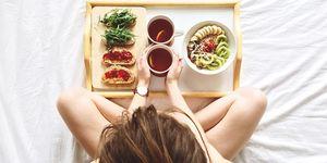 meisje healthy eten ontbijt