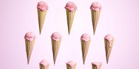 ijs schepijs roze
