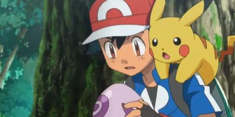 De stem van Ash Pokémon