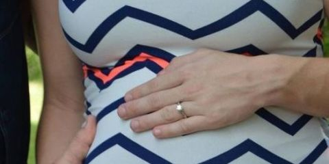 Blue, Finger, Sleeve, Textile, Pattern, Joint, Nail, Electric blue, Orange, Thumb,