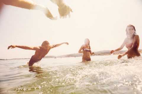 Fun, Photograph, People in nature, Summer, Leisure, Vacation, People on beach, Muscle, Sunlight, Holiday,