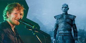 Links: Ed Sheeran, Getty Images - rechts: Game of Thrones seizoen 7