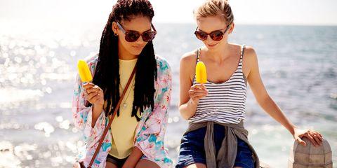 Eyewear, Glasses, Vision care, Fun, Human body, Sunglasses, Goggles, Leisure, Summer, Thigh,
