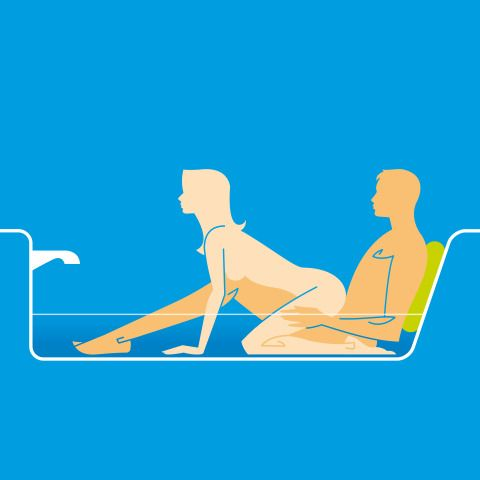 Sex positions in the bath tub