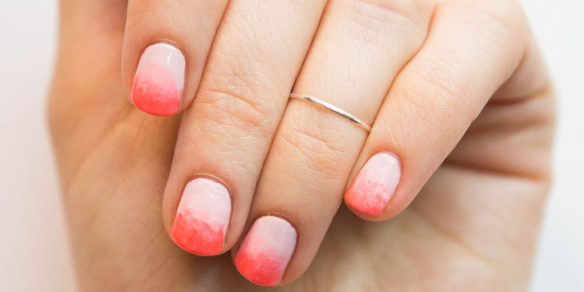 Nail Art How To Neon Pink Ombre Manicure