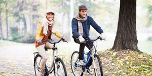 When the weather's warm, try taking a bike ride outside your city and having lunch in the next town over. Better yet? Pack a picnic and eat al fresco.