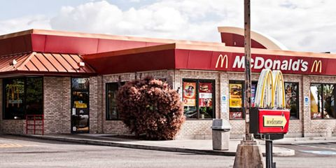 """<p><a href=""""http://www.cosmopolitan.com/celebrity/news/sex-in-mcdonalds-bathroom"""" target=""""_blank"""">A U.K. couple was thrown out</a> of a McDonald's for stripping down in the eatery's bathroom—and moaning and groaning for all to hear. We don't know about you, but we'd rather take our golden fries and bounce. Mickey D's bathrooms? So not sexy.</p>"""