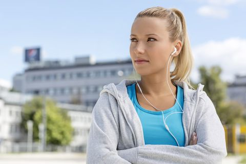 Woman Unhappy with Workout