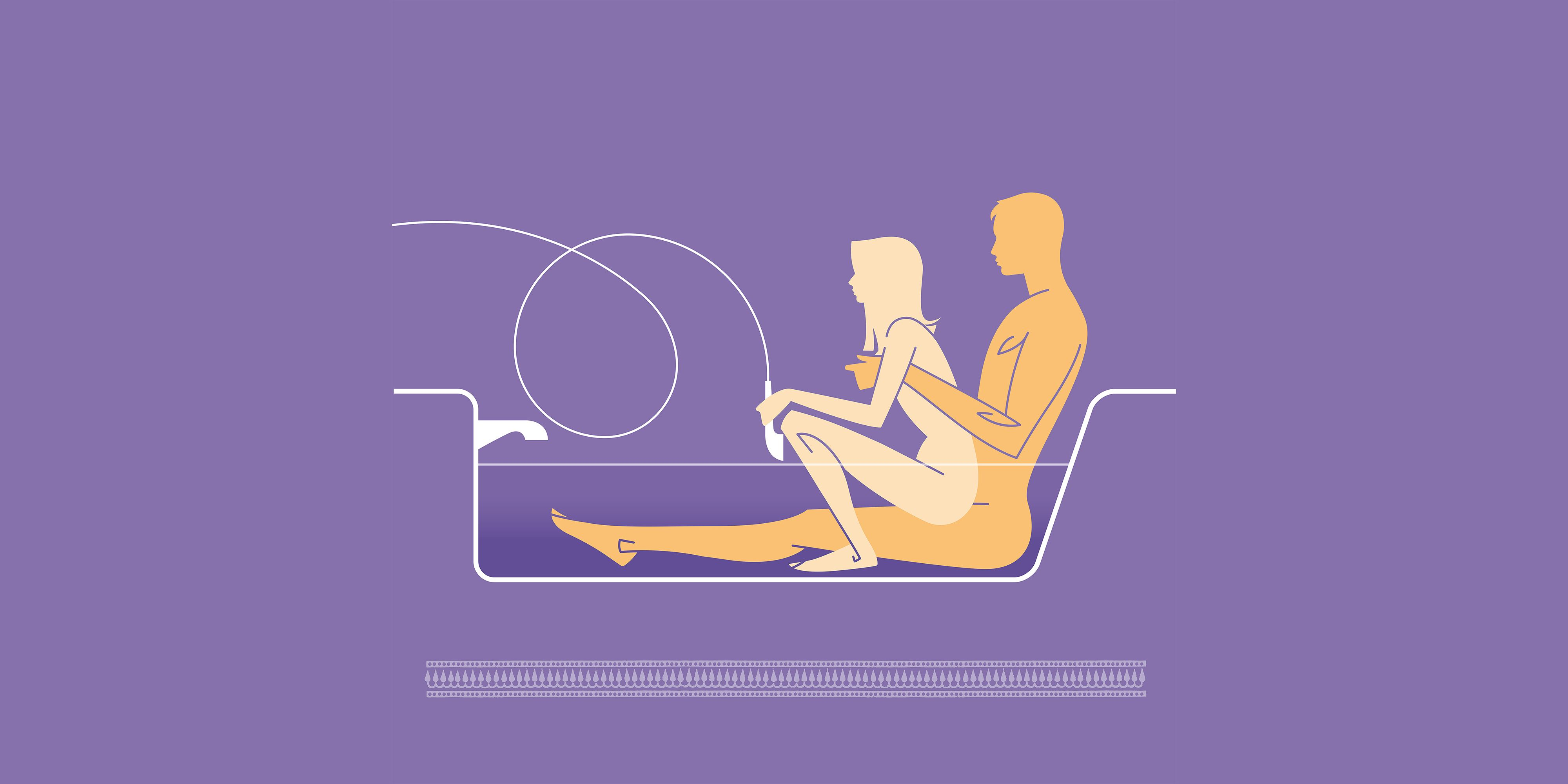 Sex positions in the tub