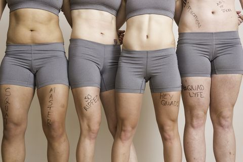 Skin, Human leg, Textile, Joint, White, Waist, Thigh, Trunk, Beauty, Muscle,