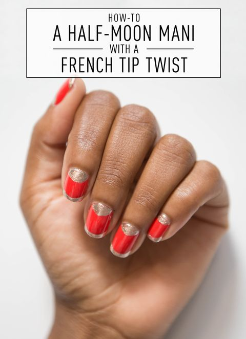 Nail Art How To Half Moon With A French Tip Twist