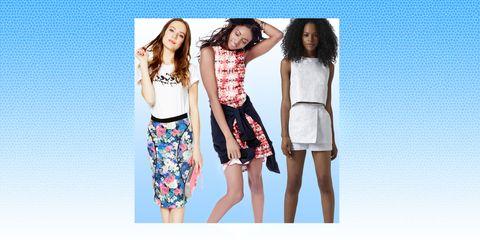 Clothing, Leg, Shoulder, Textile, Pattern, Style, Summer, Waist, Fashion, Fashion model,