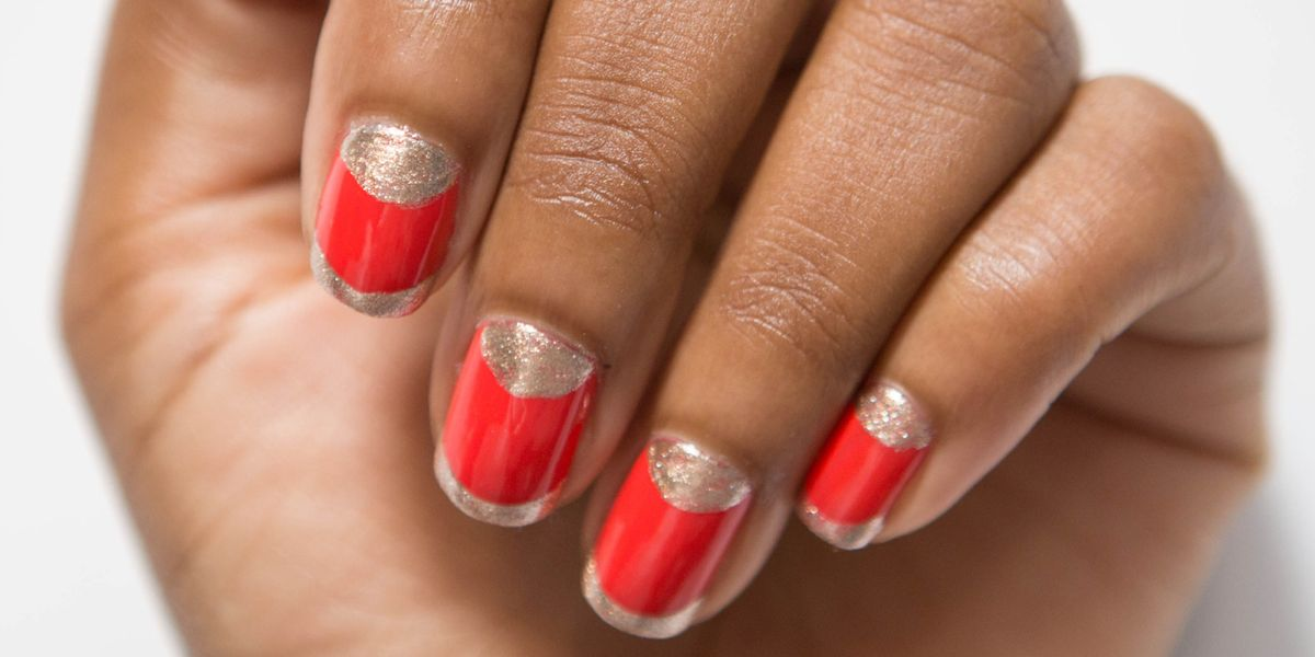 - Nail Art How-To: Half-Moon With A French Tip Twist