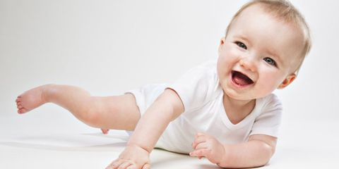 Ear, Finger, Cheek, Skin, Hand, Joint, Child, Elbow, Crawling, Tummy time,