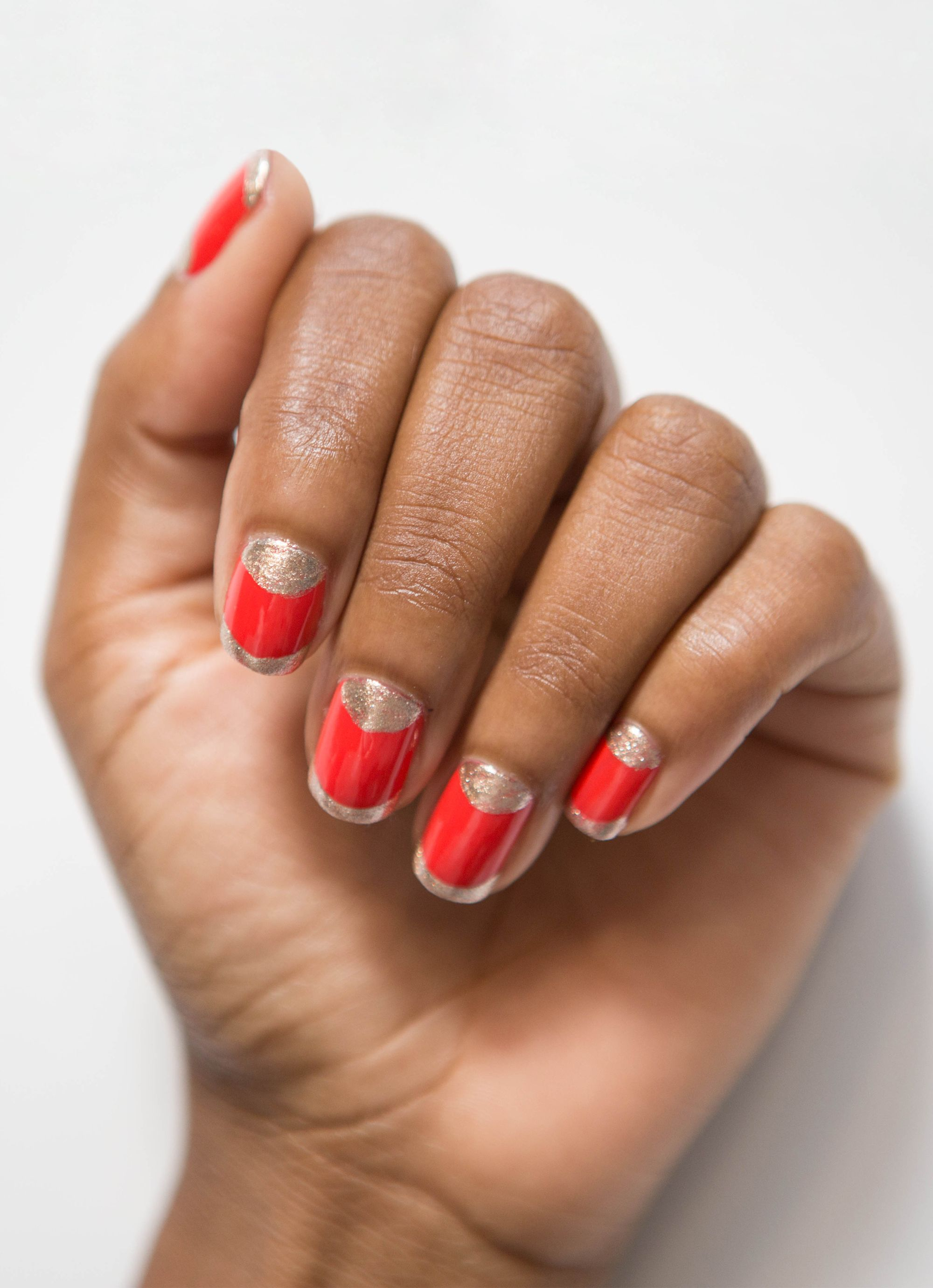 Nail Art How-To: Half-Moon With a French Tip Twist