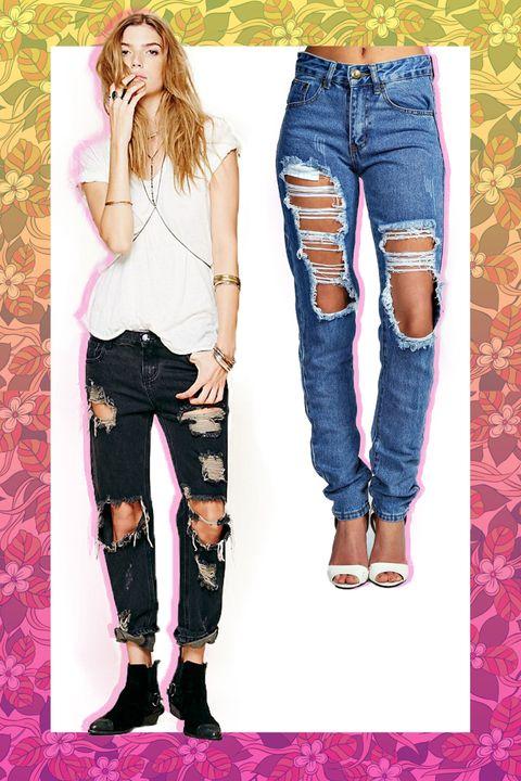 Clothing, Leg, Denim, Trousers, Jeans, Textile, White, Style, Knee, Fashion,
