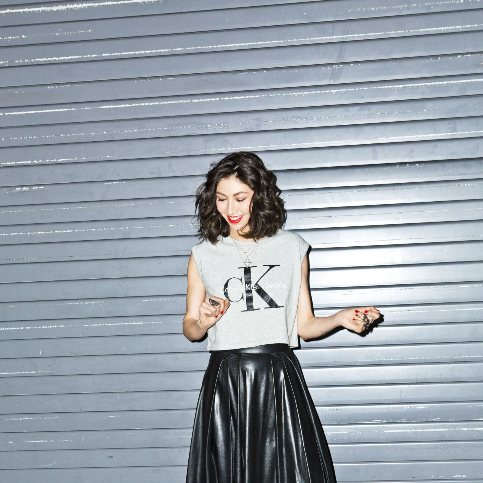 "<p>Celebrity agent, The Society Management. ""My most treasured item is my mom's tee shirt from the '70s that says 'Makin' Bacon' on the front and 'Good ass is hard to find' on the back.""</p><p>Top, Calvin Klein Jeans, $106. Skirt, Adeam. Shoes, Dior. Necklace, Pamela Love, $560. All other jewelry, Ashleah's own.</p>"