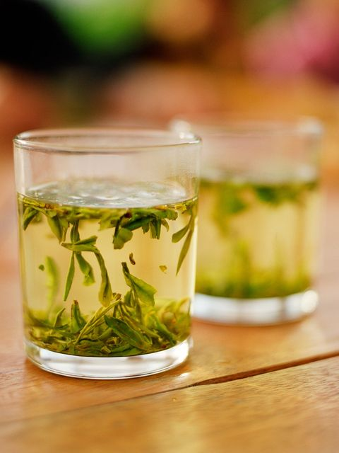 "<p>This antioxidant-rich tea has multiple health benefits, including boosting metabolism, says registered dietitian nutritonist <a href=""jackienewgent.com"">Jackie Newgent</a>, author of <em>The With or Without Meat Cookbook</em>. &ldquo;It&rsquo;s because green tea contains plant-based compounds called catechins.&rdquo; Not only have these compounds <a href=""http://www.ncbi.nlm.nih.gov/pubmed/21115335"">been found</a> to reduce body weight and fat, but the caffeine in green tea also acts as a stimulant that can increase the amount of energy your body uses. And then there&rsquo;s the H20. &ldquo;<a href=""http://www.ncbi.nlm.nih.gov/pubmed/20796216"">Drinking water</a> may promote thermogenesis&mdash;the production of heat caused by the metabolizing of food&mdash;and play a role in reducing calorie intake,&rdquo; adds Newgent.&nbsp;</p>"