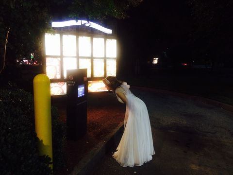 Dress, Bridal clothing, Gown, Wedding dress, Night, Light, Bride, Darkness, Midnight, Bridal party dress,