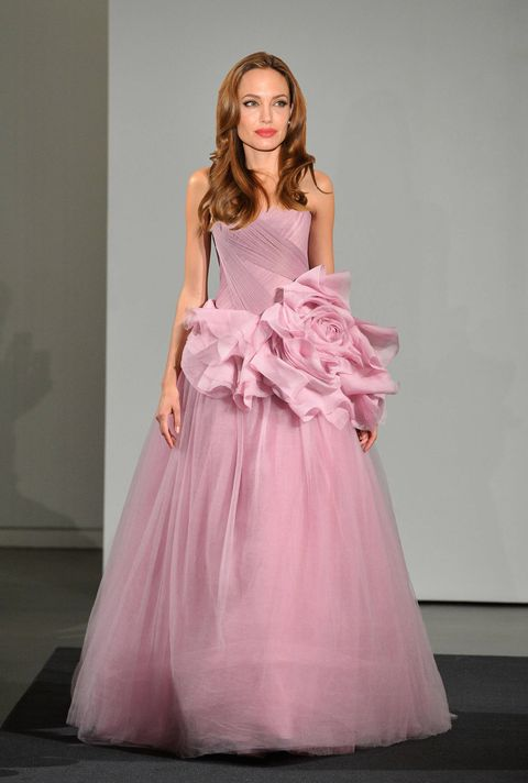 Clothing, Dress, Shoulder, Textile, Pink, One-piece garment, Formal wear, Style, Gown, Magenta,
