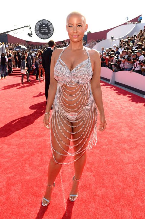 Amber Rose Is Wearing A Naked Dress-9259
