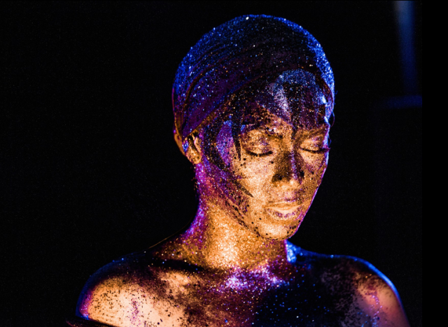 Beyoncé Uses Body Glitter to Send a Coded Message