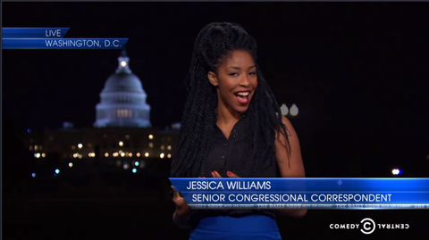 Jessica Williams on the Daily Show