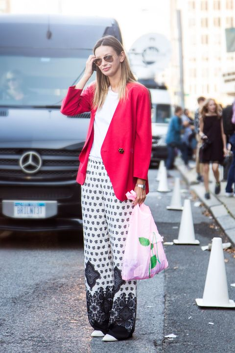 Clothing, Cone, Photograph, Grille, Outerwear, Bag, Headlamp, Style, Street fashion, Coat,