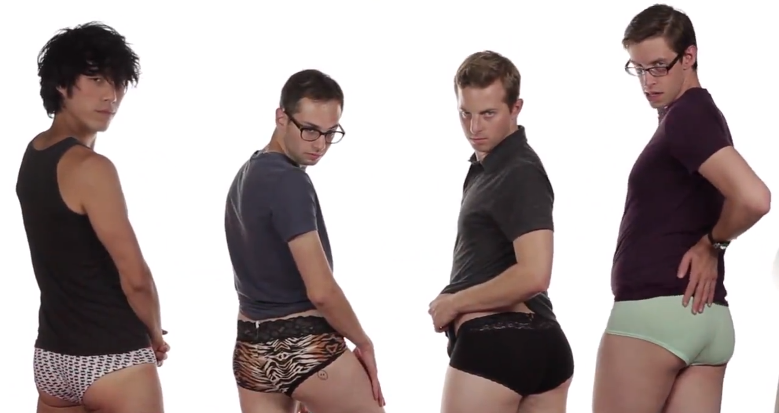Watch These Men Try on Women's Underwear, Try and Understand Why ...